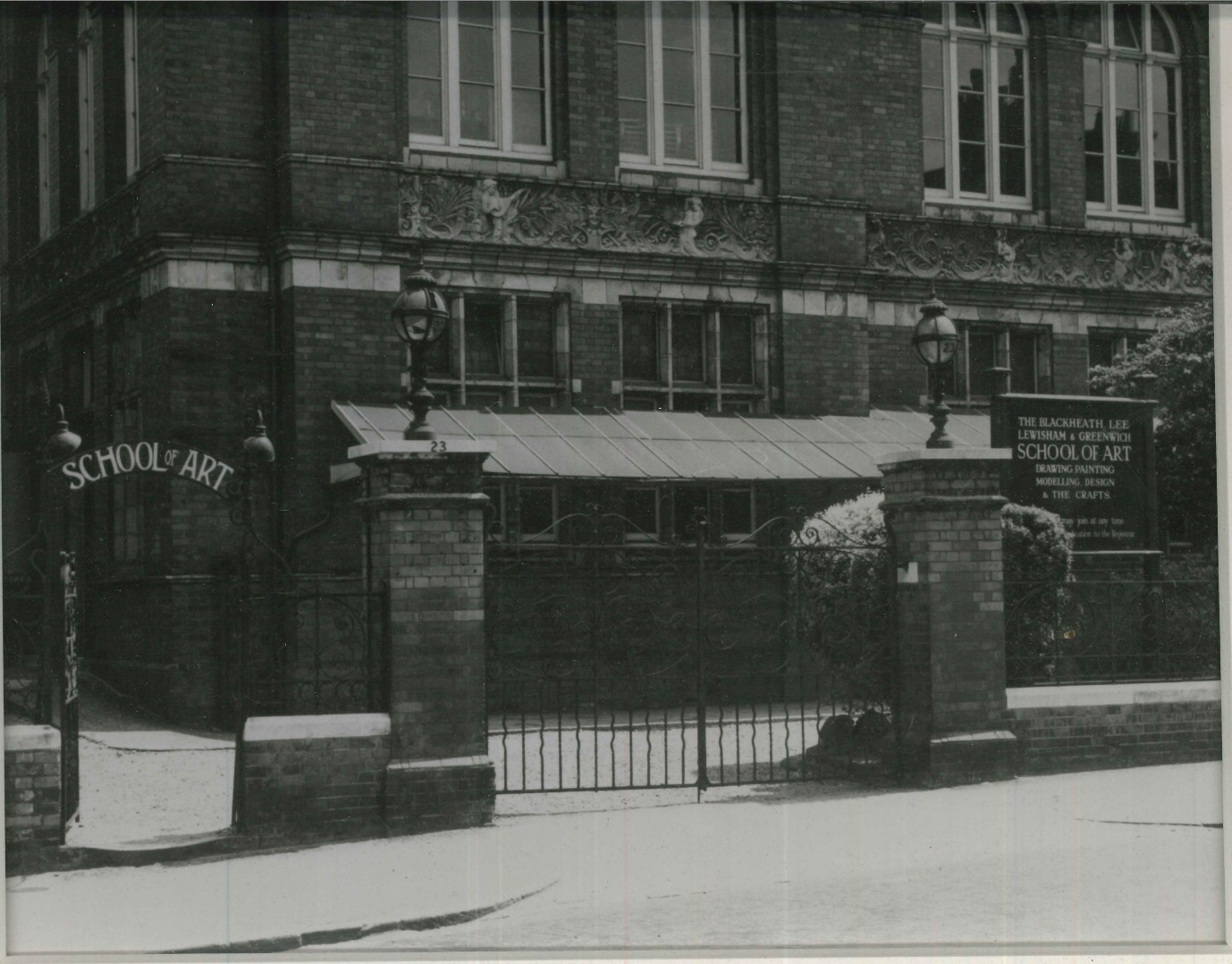 Entrance gate to the Blackheath School of Art, circa 1930s.