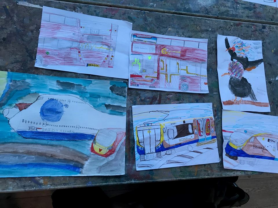 Work created during the schools' first visit to the Conservatoire